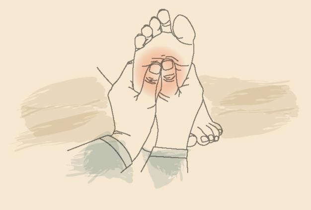 原因1. 足裏の筋肉の張り