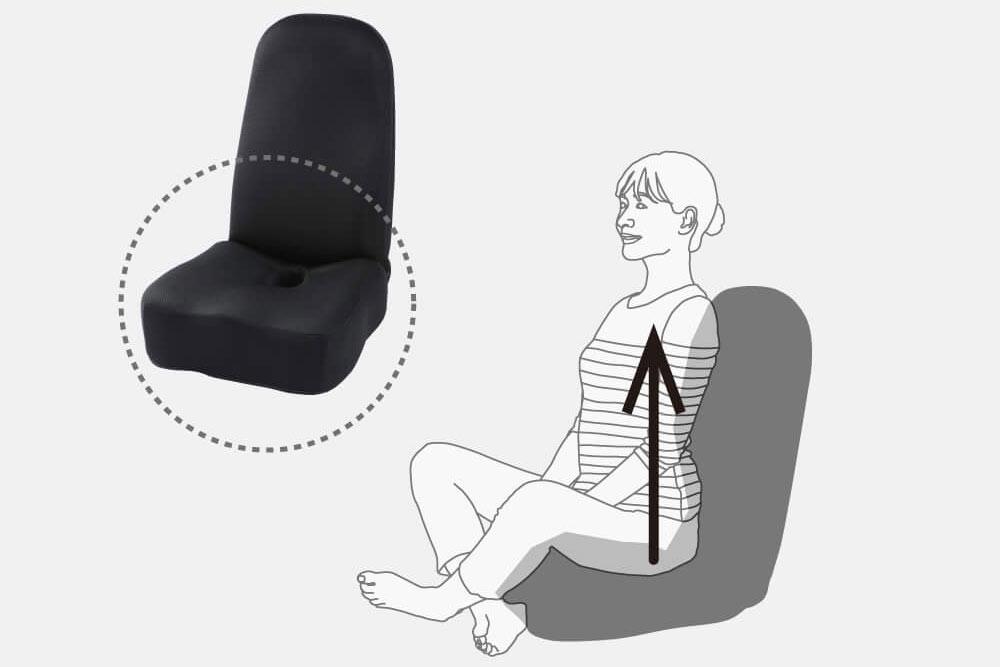 長時間座っても安定する座面