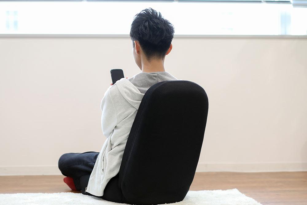 スタッフ兼松:整体座椅子使用例